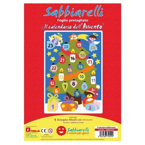 Il Calendario Dellavvento.Sabbiarelli Album Il Calendario Dell Avvento 1 Maxi Disegno 26x40 Cm