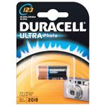 Duracell Ultra M3 3v Lithium DL123A /CR123A / ELI123A confezione in blister
