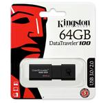 KINGSTON FLASH DRIVE USB 3.0 64GB DataTraveler 100 G3 DT100G3/64GB