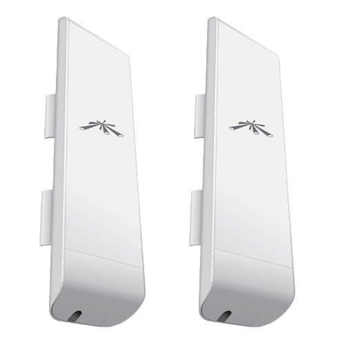 Ubiquiti 2 Pack NanoStation M5 5GHz - High Power Wireless Indoor/Outdoor AirMax dBi CPE - due pz di NSM5 Bundle