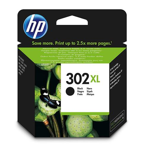 HP 302XL NERO / getto d'inchiostro Cartuccia originale F6U68AE